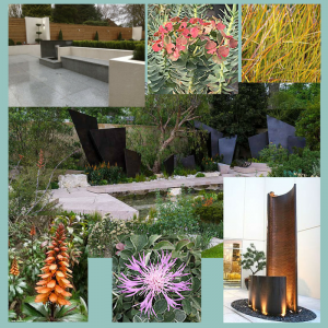 Collage of garden images including plants from Chelsea Flower Show 2016