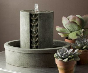 Image of small contemporary indoor water feature
