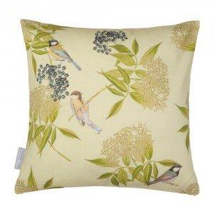 Bird on Elderflower cushion - Izabella peters
