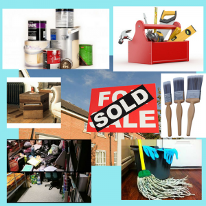 Collage of images around estate agent's Sold board