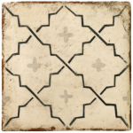 Glazed tile in mediterranean style