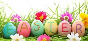 Ha0py Easter sign