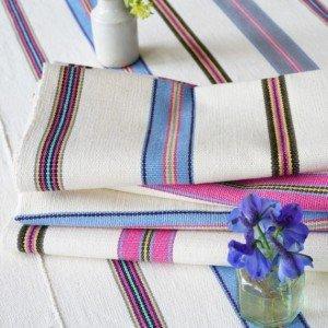 Juanita Blue & Pink napkins Montes & Clark