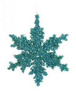 Image of turquoise snowflake christmas decoration