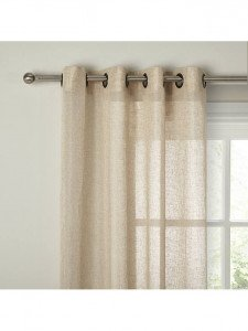 Voile curtains with eyelet