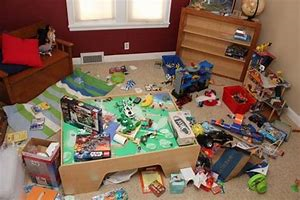 Room with kids toys and clutter