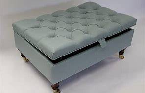 Image of padded storage ottoman